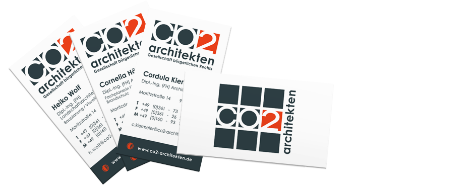 Abbildung zum Corporate-Design der CO2 architekten – Logo