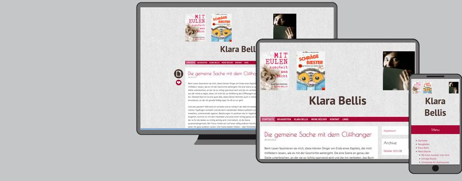 Bild zu Website von Klara Bellis – Web