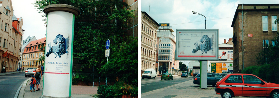 Plakatmotiv in Aktion: Händel-Festspiele 2003